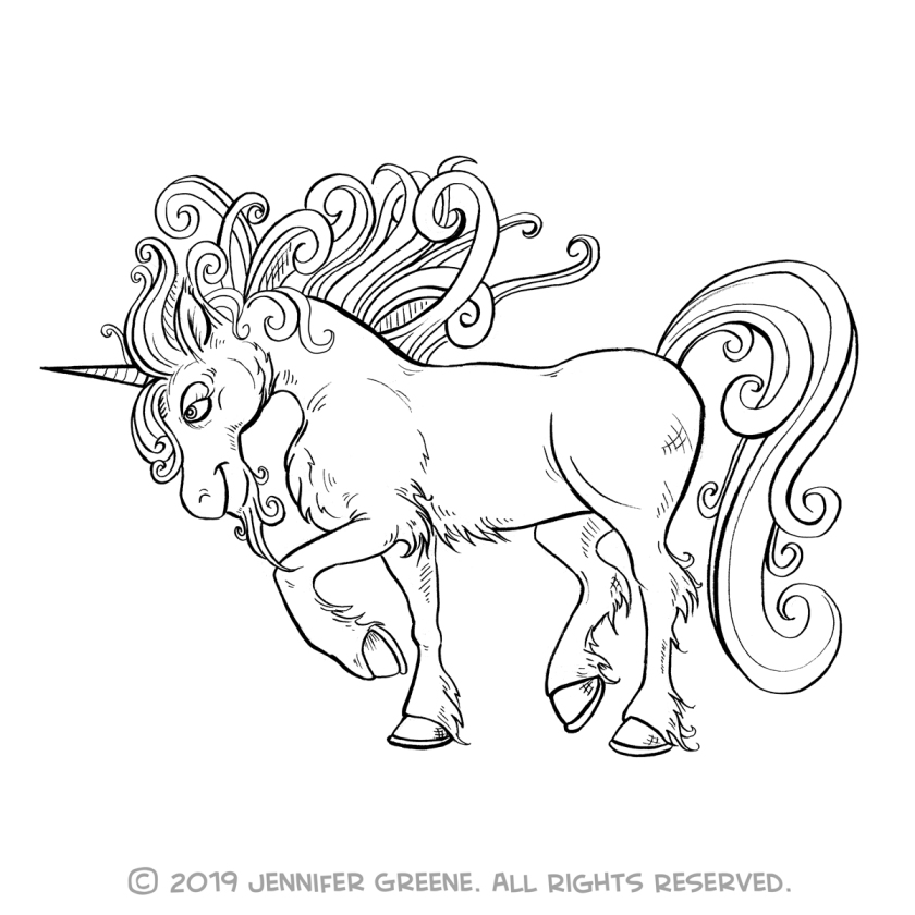 Inktober10_UnicornDrawing