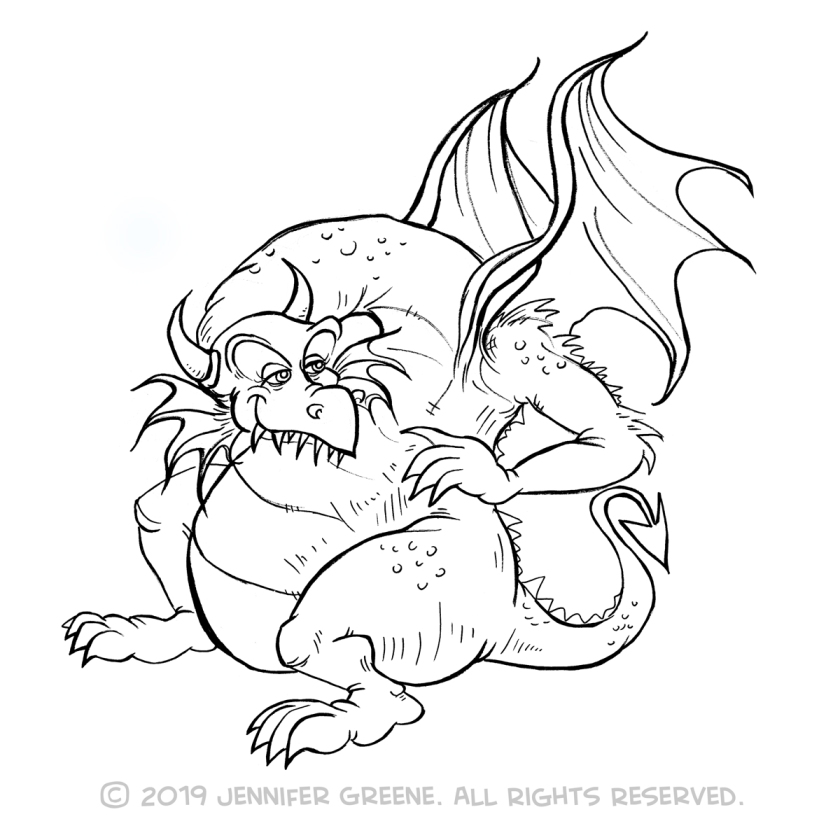 Inktober13_DragonDrawing