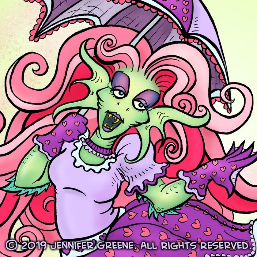 Inktober14_MermaidPatternZoomedIn