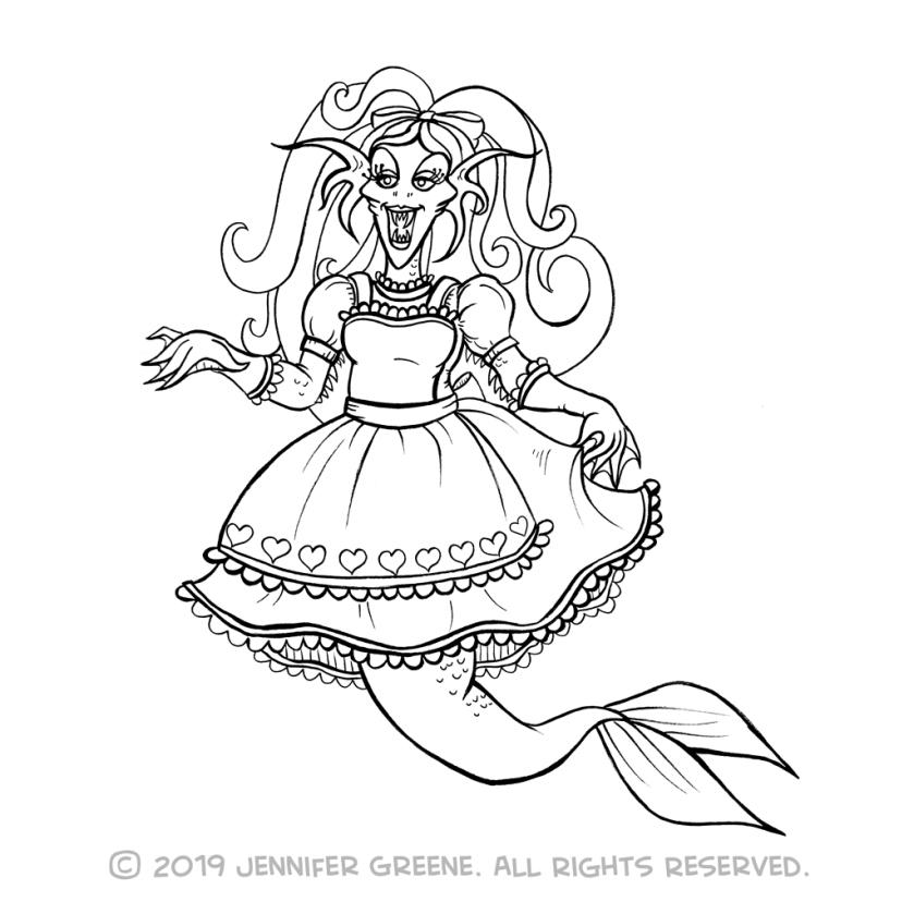 Inktober29_MermaidAliceDrawing