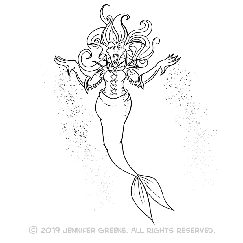 Inktober4_MermaidDrawing