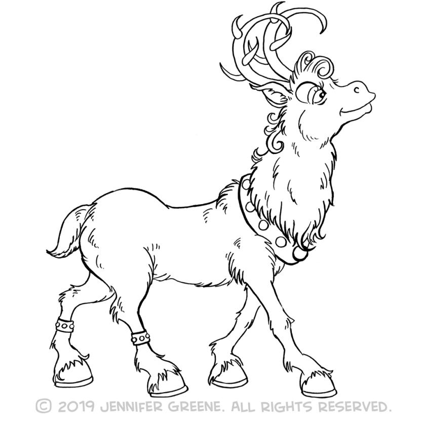 Reindeer3Drawing