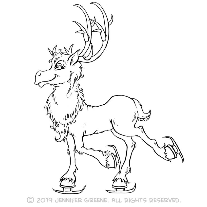 Reindeer5Drawing
