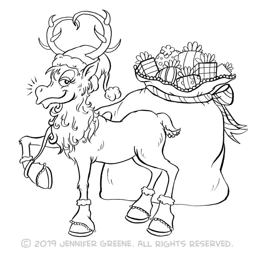 Reindeer7Drawing